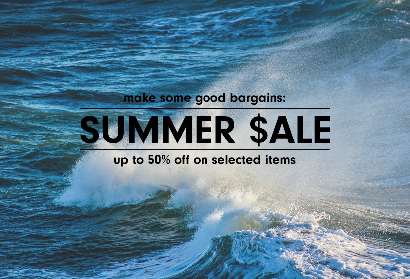 THE SUMMER SALE IS ON
